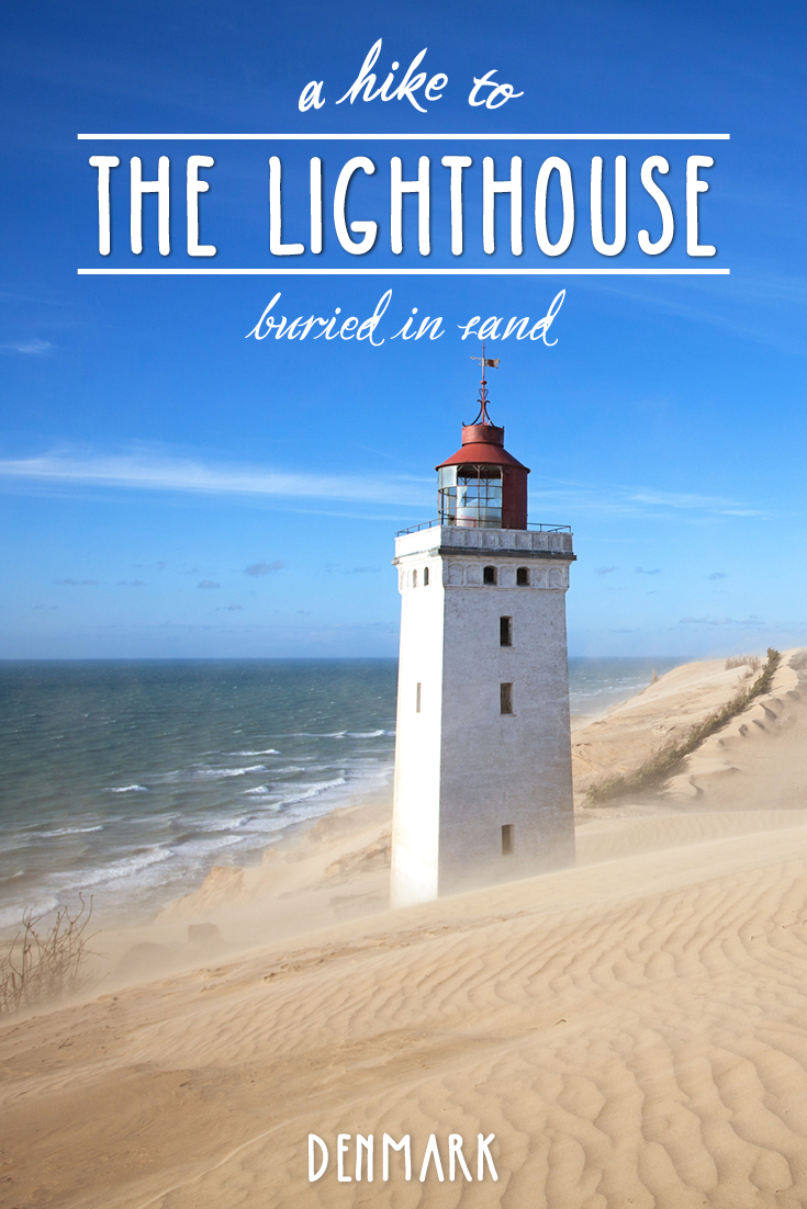Lighthouse buried in sand