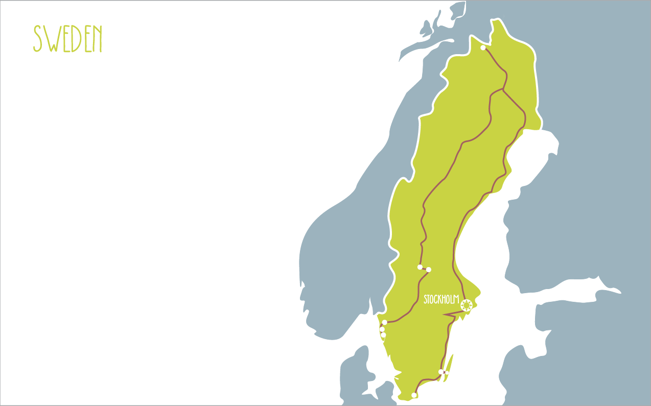Sweden Itinerary Family Corel Adventures - Sweden map mora